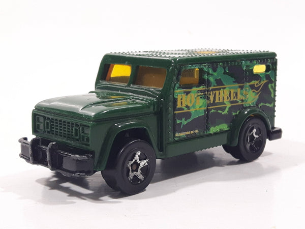 2006 Hot Wheels Urban Armored Truck Green Die Cast Toy Car Vehicle with Opening Rear Door