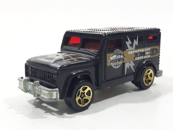 2002 Hot Wheels Fed Fleet Armored Truck Black Die Cast Toy Car Vehicle with Opening Rear Door