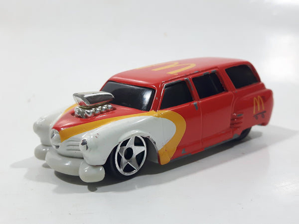 2000 Hot Wheels McDonald's Golden Arches Studebaker Wagon Red Die Cast Toy Car Vehicle