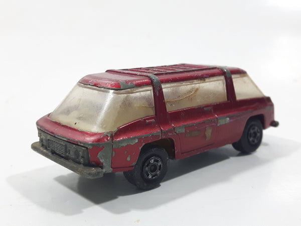 Vintage 1970 Lesney Matchbox Series No. 22 Freeman Inter-City Communter Metallic Red Die Cast Toy Car Vehicle