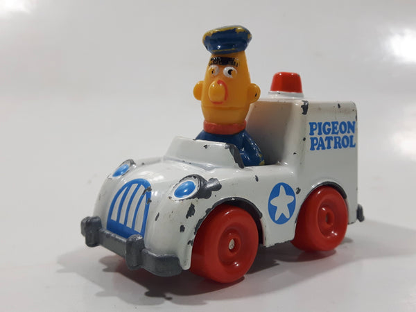 1981 1983 Playskool The Muppets Sesame Street Bert Pigeon Patrol White Die Cast Toy Car Vehicle