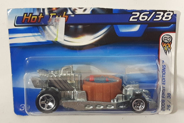 2006 Hot Wheels First Editions 26/38 Hot Tub ZAMAC Die Cast Toy Car Vehicle