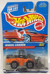 1998 Hot Wheels CAT Wheel Loader Orange, Black, and Grey Die Cast Toy Construction Vehicle New in Package