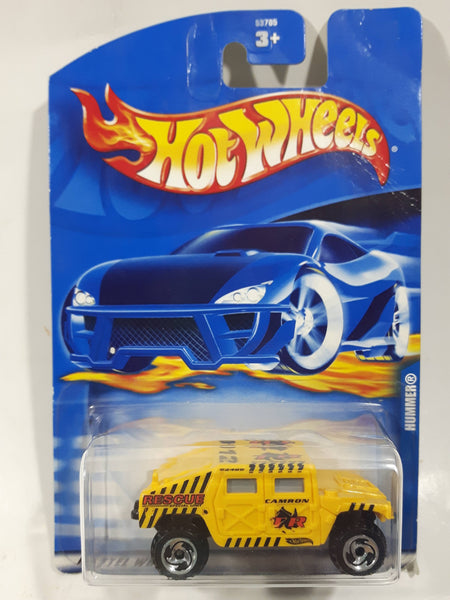 2001 Hot Wheels Hummer Yellow Die Cast Toy Car Vehicle New in Package