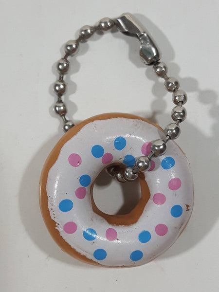 "Sprinkle Donut Miniature Small 7/8"" Inch Key Chain Charm"