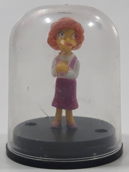 "2002 Tomy The Simpsons Maude Miniature 1 3/4"" Tall Dome Capsule Toy Cartoon Character Figure"