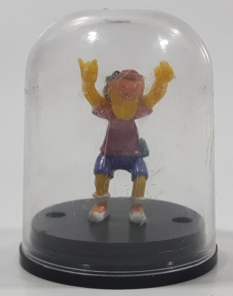 "2002 Tomy The Simpsons Otto Mann Miniature 1 3/4"" Tall Dome Capsule Toy Cartoon Character Figure"