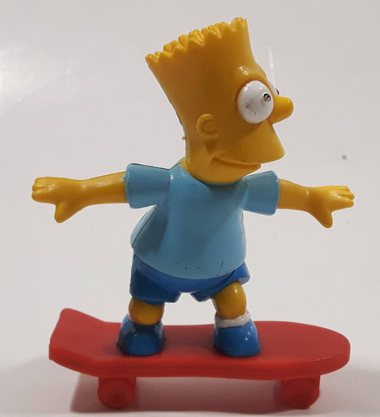 "1990 The Simpsons Bart Simpson On A Skateboard 3"" Tall Toy Cartoon Character Figure"