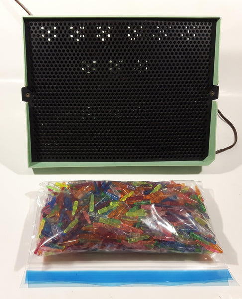 Vintage 1968 Hasbro Model No. 5455 Hassenfeld Bros. Canada Limited LR24153 110V 25W Lite Brite Toy Light Up Picture Toy with Large Bag of Pegs