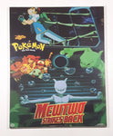 "1997, 1998 Nintendo Creatures Game Freak TV Pokemon The First Movie Newton Strikes Back 15 1/2"" x 19 3/4"" Hardboard Wood Plaque Picture"