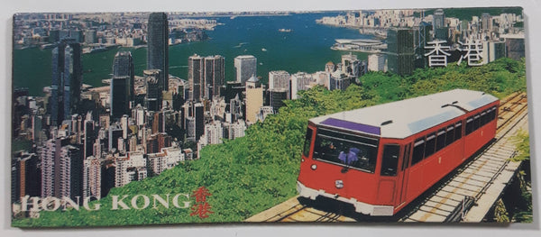 "Hong Kong Peak Tram 1 1/4"" x 3"" Rubber Fridge Magnet"