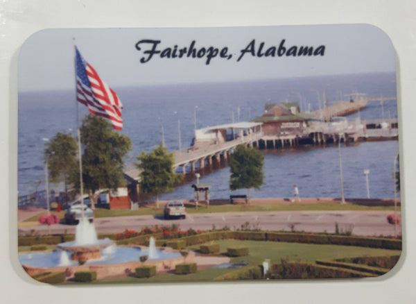 "Fairhope, Alabama Municipal Pier Photograph 2"" x 3"" Plastic Fridge Magnet"