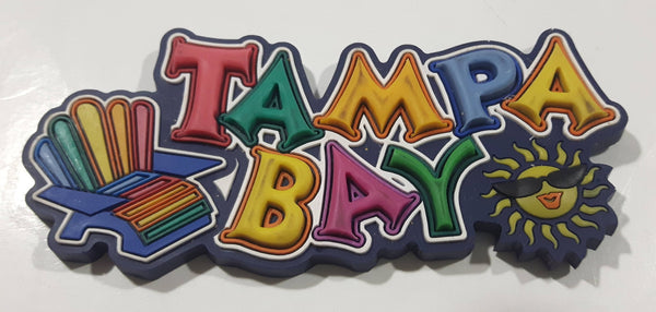 "Tampa Bay Florida Colorful 3D Large 1 3/4"" x 4"" Thick Rubber Fridge Magnet"