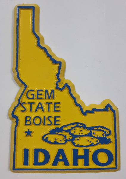 "Idaho ""Gem State"" Boise 1 5/8"" x 2 1/2"" State Shaped Rubber Fridge Magnet"