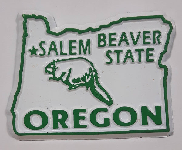 "Oregon ""Beaver State"" Salem 1 1/2"" x 2"" State Shaped Rubber Fridge Magnet"