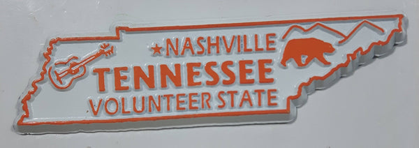 "Tennessee ""Volunteer State"" Nashville 1"" x 3 3/4"" State Shaped Rubber Fridge Magnet"