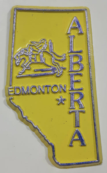 "Alberta Edmonton 1 1/4"" x 2 3/8"" Province Shaped Rubber Fridge Magnet"