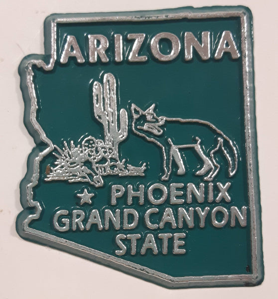 "Arizona ""Grand Canyon State"" Phoenix 1 3/4"" x 2"" State Shaped Rubber Fridge Magnet"