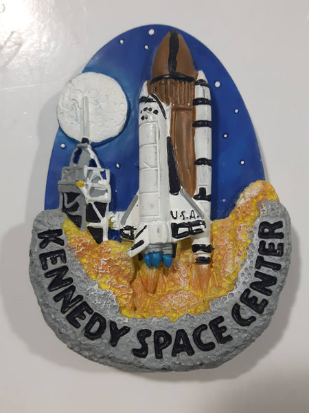 "Kennedy Space Center NASA USA Space Shuttle 3D 2 1/4"" x 3"" Resin Fridge Magnet"