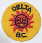 "Delta. B.C. Sun God Themed 1 3/4"" Round Fabric Patch Sticker"