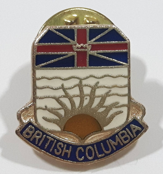 British Columbia Canada Small Metal and Enamel Lapel Pin Travel Collectible