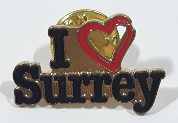 I Love Surrey I Heart Surrey Enamel Metal Lapel Pin