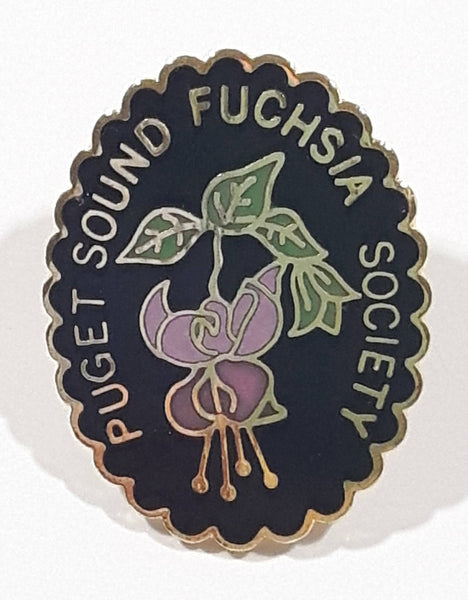 "Puget Sound Fuschisia Society 3/4"" x 1"" Enamel Metal Lapel Pin"