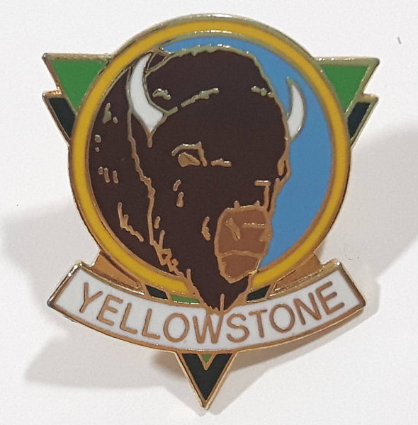 "Yellowstone Buffalo Bison Themed 1"" x 1 1/8"" Enamel Metal Lapel Pin"