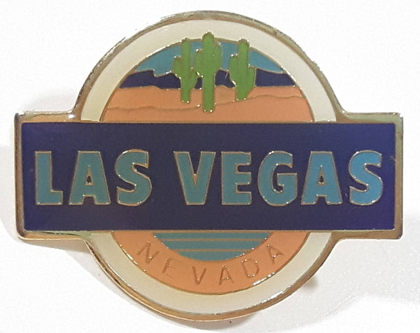 "Las Vegas Nevada Desert Cactus Themed 7/8"" x 1 1/8"" Enamel Metal Lapel Pin"