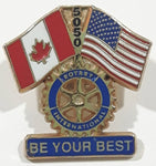 "Rotary International District 5050 Be Your Best 7/8"" x 1 1/8"" Enamel Metal Lapel Pin"