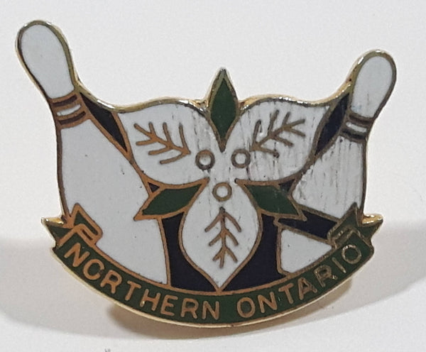 "Northern Ontario Bowling 3/4"" x 1"" Enamel Metal Lapel Pin"