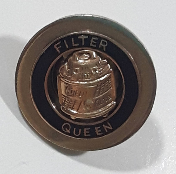 "Vintage Filter Queen Vacuums Small 5/8"" Diameter Round Metal Enamel Screw Back Pin"