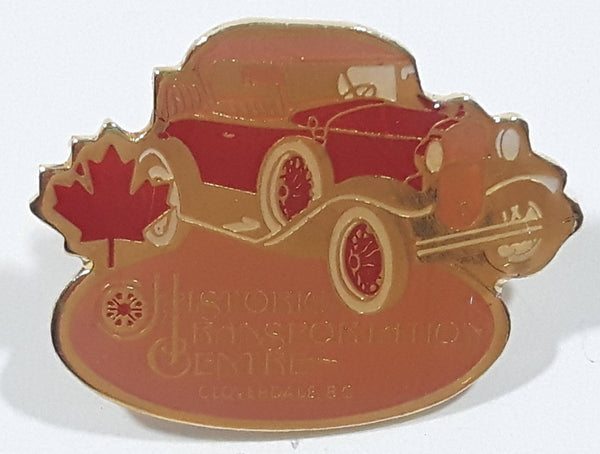 "Cloverdale, B.C. Historic Transportation Centre Classic Car Themed 3/4"" x 1"" Enamel Metal Pin"