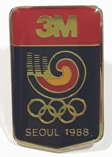 "3M Seoul 1988 Summer Olympic Games 5/8"" x 1"" Lapel Pin"