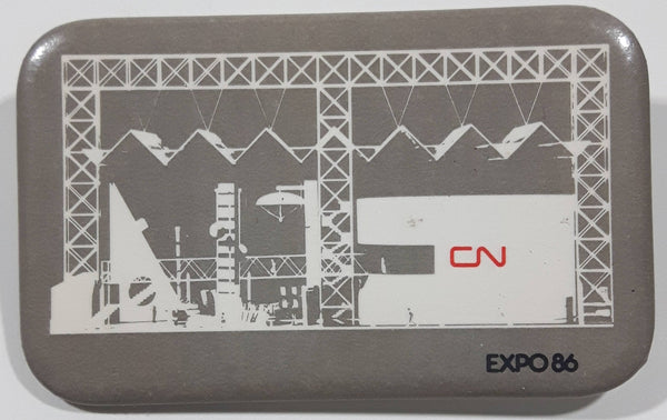"Vintage Expo 86 CN 1 3/4"" x 2 3/4"" Rectangular Shaped Pin"