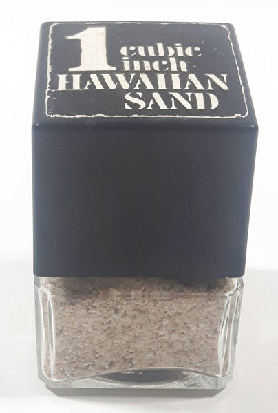 "1 Cubic Inch Hawaiian Sand 2 1/2"" Tall Square Glass Bottle"