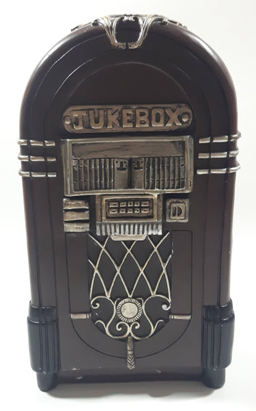 "Concepts City Loft Jukebox Shaped 9 3/4"" Tall Heavy Resin Coin Bank"