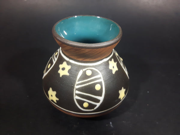 1960s West German Designed Australian made Braemore Carstens Tribal Folk Art Pottery Vase - Treasure Valley Antiques & Collectibles