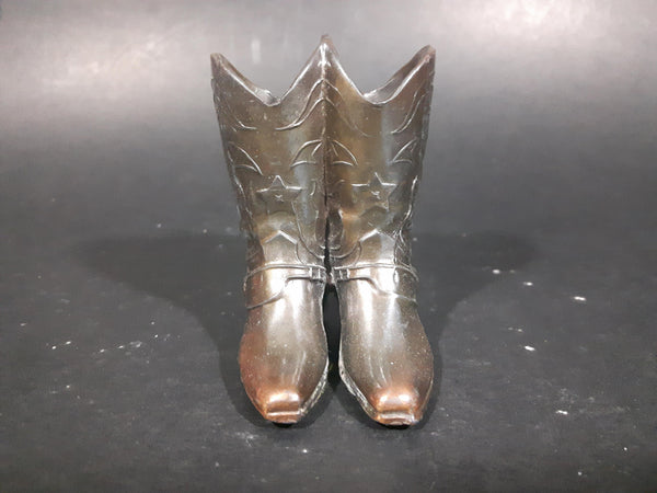1930s Very Rare Trophy Craft Miniature Copper Cowboy Boots - Treasure Valley Antiques & Collectibles