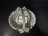 1950s Capodimonte Porcelain Flower Basket Made in Italy