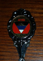 Vintage Antigua Flag Emblem Collectible Spoon - Treasure Valley Antiques & Collectibles
