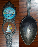 Vintage Colorful Catalina Island, California Sailboat Charm Collectible Spoon - Treasure Valley Antiques & Collectibles