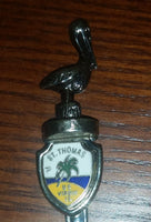 Vintage St. Thomas, U.S. Virgin Islands Pelican Figural Collectible Spoon - Treasure Valley Antiques & Collectibles