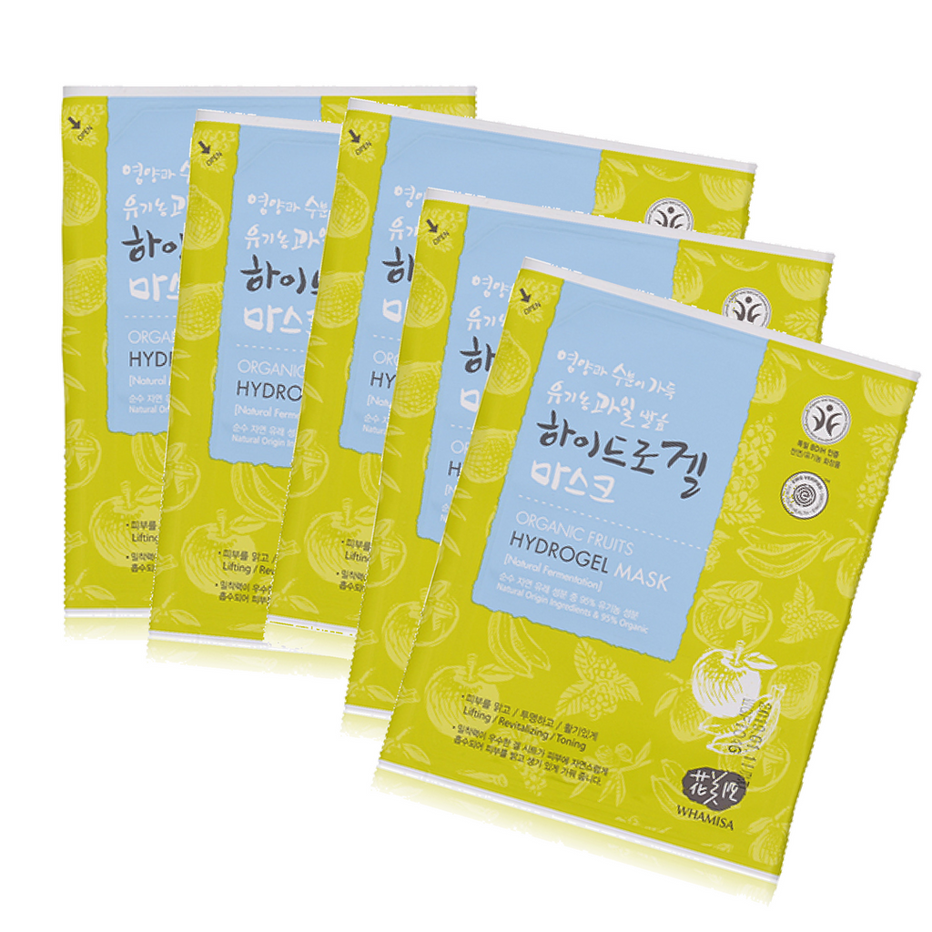 Organic Fruits Hydrogel Mask by Whamisa #6