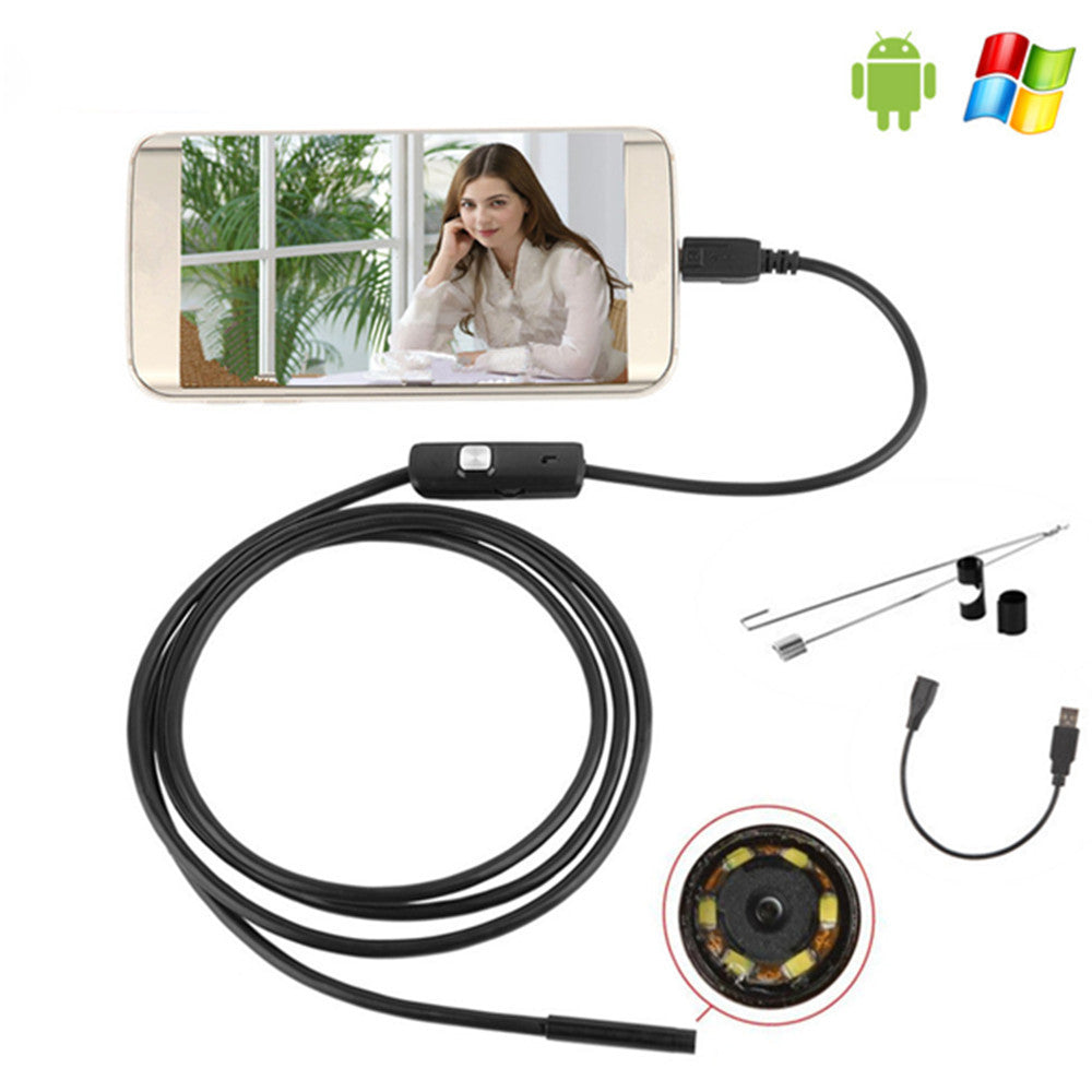7mm USB Mini Endoscope Android OTG Phone with Waterproof Inspection Camera