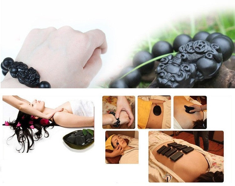 Natural Bian Energy Stone Needle Massage Bracelet