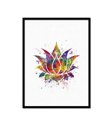 Buddha UnFramed Abstract Colorful Canvas Print Painting Wall Art Lishopi