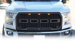 Glossy Painted Raptor-Style Grill for Ford F-150