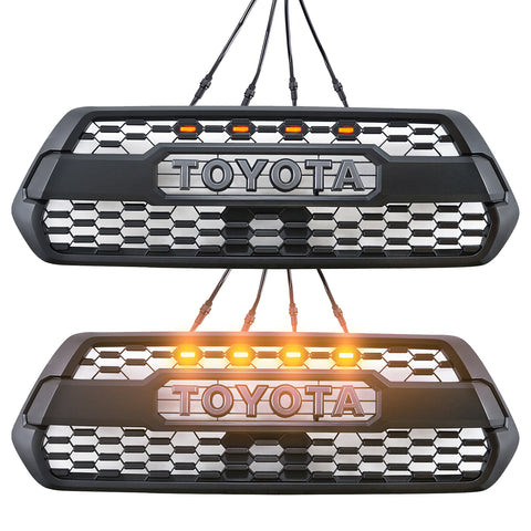 16-18 Toyota Tacoma LED Grille Lights - Exterior Auto Parts - Motorshive