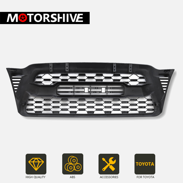 Matte Black Grill for 2005-2011 Toyota Tacoma - Exterior Auto Parts - Motorshive